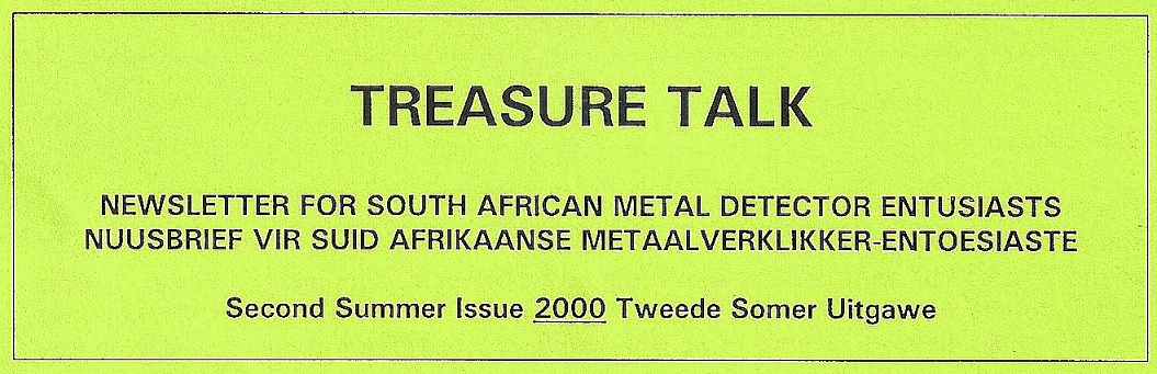 13 - Treasure Talk Oct - Dec  2000