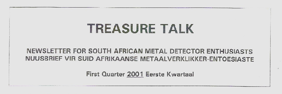 14 - Treasure Talk Jan - March  2001