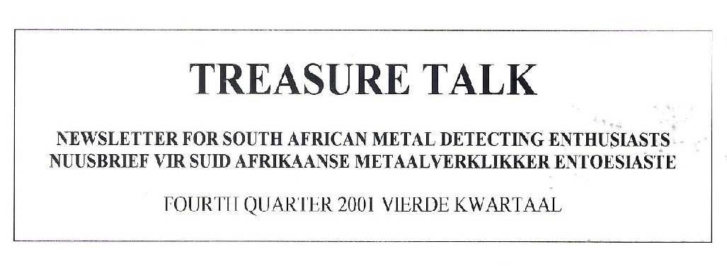 19 - Treasure Talk Oct - Dec  2001